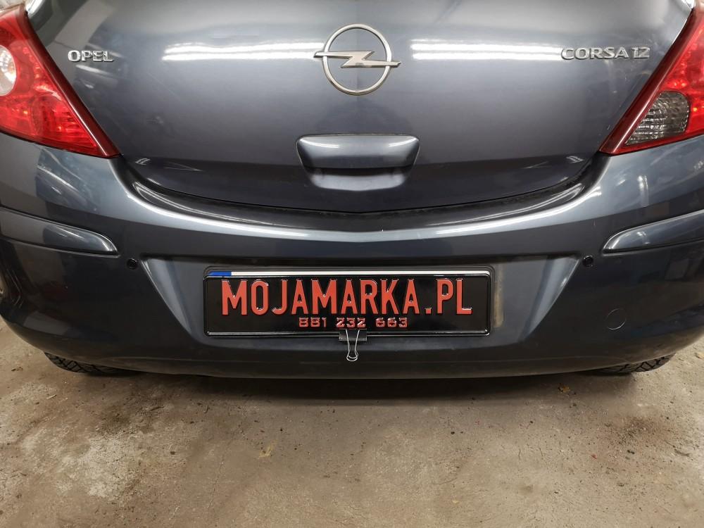 Montaż czujników cofania Opel Corsa rocznik 2008
